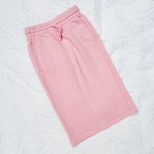 Aritzia TNA Pink Sweat Skirt